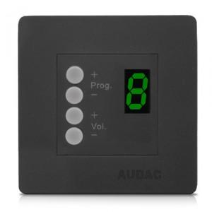 Audac DW3020/B R2 & M2 wandcontroller zwart