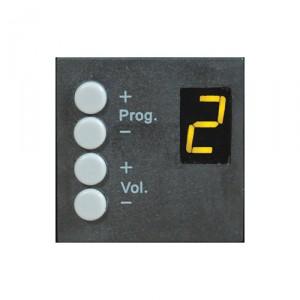 Audac DW4018/B R2 & M2 wandcontroller zwart