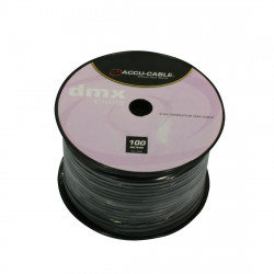 AC-DMX5/100R 5-polige 100 meter kabel op rol