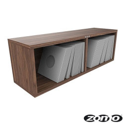 VS-BOX 7/200 platenkast 7 inch walnoot
