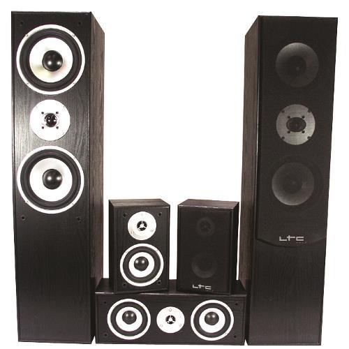 LTC Audio E1004BL 5.0 home theater systeem - zwart (1)