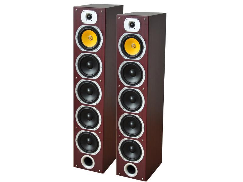 LTC Audio V7B-MA 4-weg hifi kolomluidsprekers - mahonie (1)