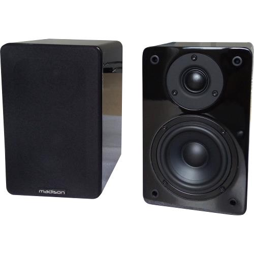 Madison MAD-BS4BL Hi-fi bibliotheek speakers 60w (1)