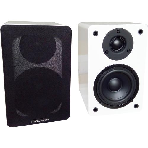 Madison MAD-BS4WH Hi-fi bibliotheek speakers 60w (1)