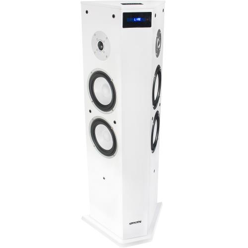 "Madison MAD-CENTER220BI-WH Aktieve bi-direktionele kolom center luidspreker met usb/sd & bluetooth 6.5""/220w (1)"