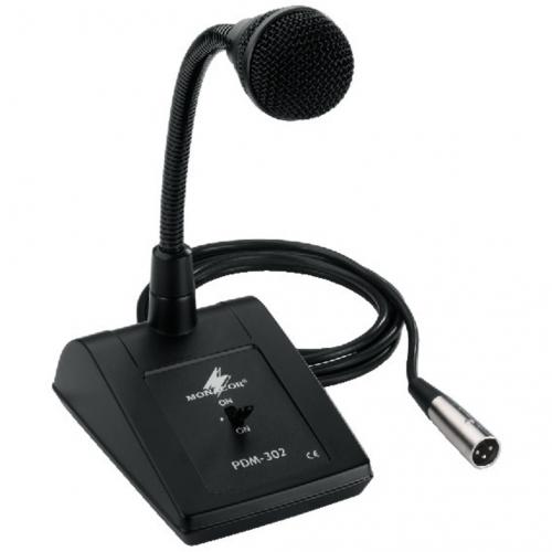 Monacor PDM-302 Dynamische tafelmicrofoon