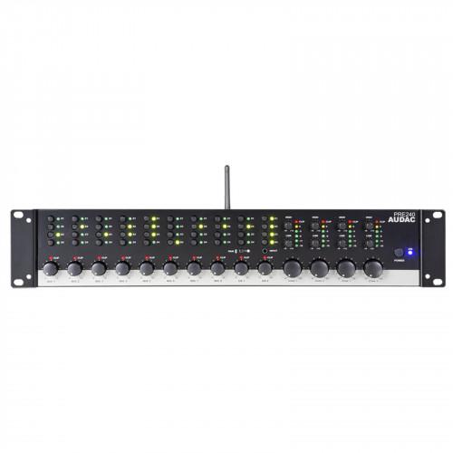 Audac PRE240 10-kanaals mixer met 4 zones